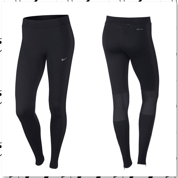 3ee3c76d4bbd32 Nike Dri Fit Element Zip Mesh Running Tights. M_5adbd22405f43010701971fd